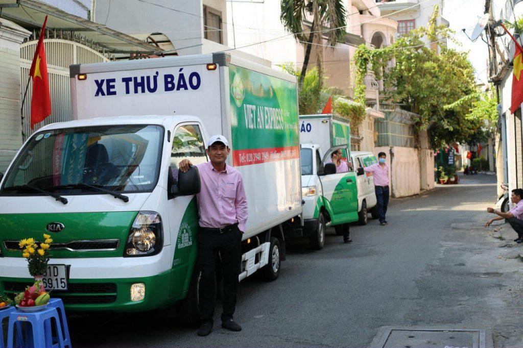 Xe tải hàng của Viet AN Express